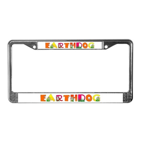 Earthdog License Plate Frame