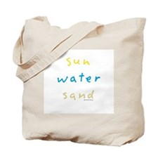 Sun Water Sand Tote Bag