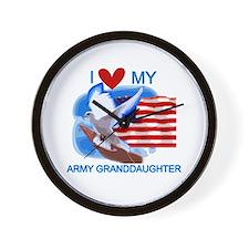 Love My Army Granddaughter Wall Clock