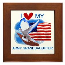 Love My Army Granddaughter Framed Tile
