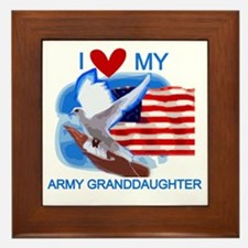 Love My Army Granddaughter Framed Tile