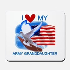 Love My Army Granddaughter Mousepad