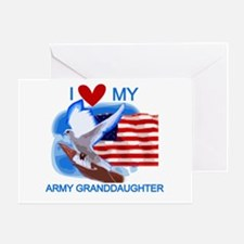 Love My Army Granddaughter Greeting Card