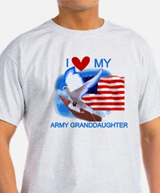 Love My Army Granddaughter T-Shirt