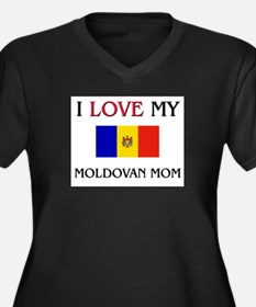 I Love My Moldovan Mom Women's Plus Size V-Neck Da