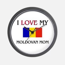 I Love My Moldovan Mom Wall Clock