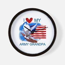 Love My Army Grandpa Wall Clock