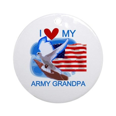 Love My Army Grandpa Ornament (Round)