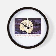 Plum Blossom Moonlight Wall Clock