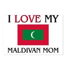 I Love My Maldivan Mom Postcards (Package of 8)