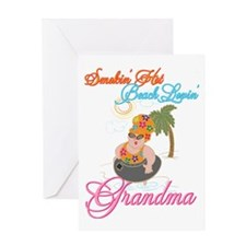 Beach Lovin Grandma Greeting Card