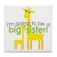 Big Sister To Be Giraffes Tile Coaster