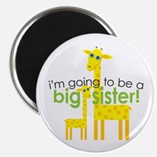 "Big Sister To Be Giraffes 2.25"" Magnet (10 pack)"