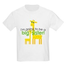 Big Sister To Be Giraffes T-Shirt