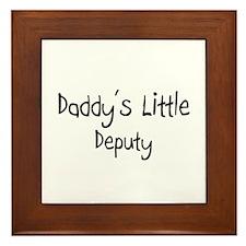Daddy's Little Deputy Framed Tile