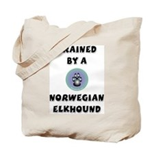 Trained by an Elkhound Tote Bag
