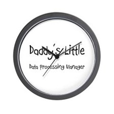 Daddy's Little Data Processing Manager Wall Clock