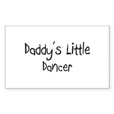 Daddy's Little Dancer Rectangle Decal