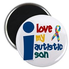 """I Love My Autistic Son 1 2.25"""" Magnet (100 pack)"""