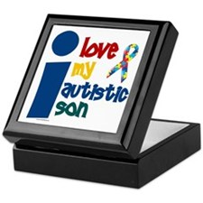 I Love My Autistic Son 1 Keepsake Box