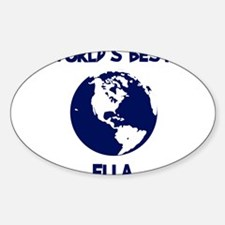 ELLA - Worlds Best Mom Oval Decal