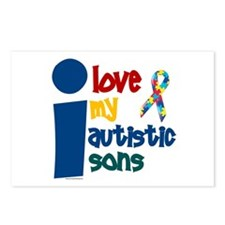 I Love My Autistic Sons 1 Postcards (Package of 8)