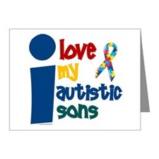 I Love My Autistic Sons 1 Note Cards (Pk of 10)