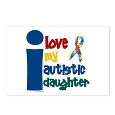 I Love My Autistic Daughter 1 Postcards (Package o