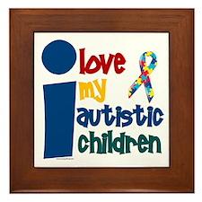 I Love My Autistic Children 1 Framed Tile