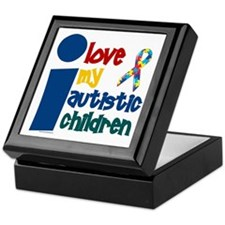 I Love My Autistic Children 1 Keepsake Box