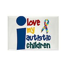 I Love My Autistic Children 1 Rectangle Magnet