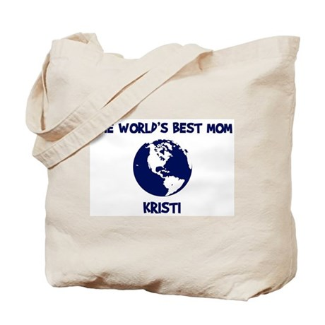 KRISTI - Worlds Best Mom Tote Bag
