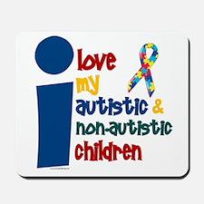 I Love My Autistic & NonAutistic Children 1 Mousep