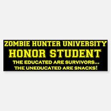 Zombie Hunter University Bumper Bumper Bumper Sticker