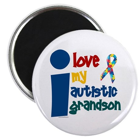"I Love My Autistic Grandson 1 2.25"" Magnet (10 pac"