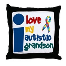 I Love My Autistic Grandson 1 Throw Pillow