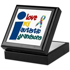 I Love My Autistic Grandsons 1 Keepsake Box