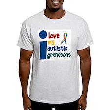 I Love My Autistic Grandsons 1 T-Shirt