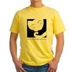 Sleepy Cat Yellow T-Shirt
