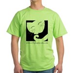 Sleepy Cat Green T-Shirt