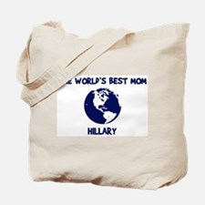 HILLARY - Worlds Best Mom Tote Bag