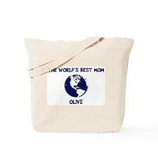 OLIVE - Worlds Best Mom Tote Bag