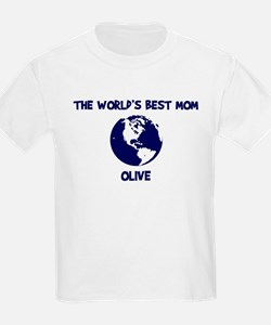 OLIVE - Worlds Best Mom T-Shirt