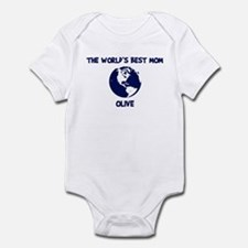 OLIVE - Worlds Best Mom Infant Bodysuit