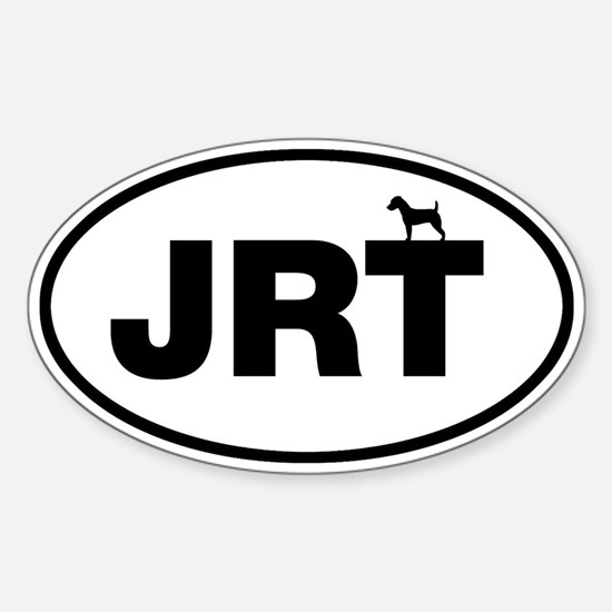 Jack Russell Sticker (Oval)