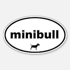 Minibull Oval Decal