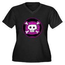 PRP Circle Women's Plus Size V-Neck Dark T-Shirt
