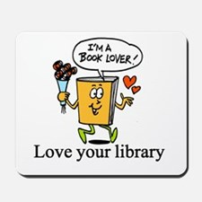 Library fun design Mousepad