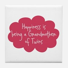 Grandmother of Twins Tile Coaster