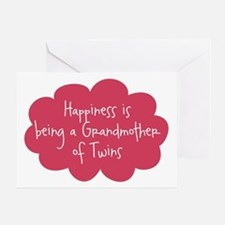 Grandmother of Twins Blank Greeting Card